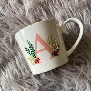 Opalhouse Cream & Coral Monogrammed A Coffee Mug
